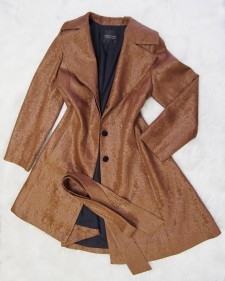 この秋はオーダーコート!★ブラウン生地でオシャレな雰囲気<br />Try A Made To Order Coat This Season! The Brown Fabric Gives A Modern Feel