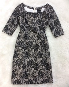 映画にも出そう!♪花柄のレース生地でクラシック&エレガントワンピース<br />Like Something From A Movie! Elegant Dress In Flowery Lace Fabric