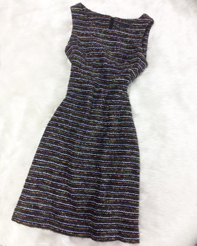 オードリー・ヘプバーン風なワンピース♪ミラノインポート生地でエレガントなAラインドレス<br/>This reminds of Audrey Hepburns style♪Elegant A-line dress in Itlian fabric