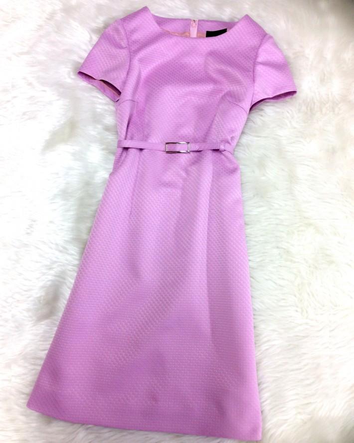 スペシャルオーダーのベルト付きのワンピース★大人女性に似合う綺麗なパープル<br />This dress with belt is a special order★The beautiful purple suits sophisticated women