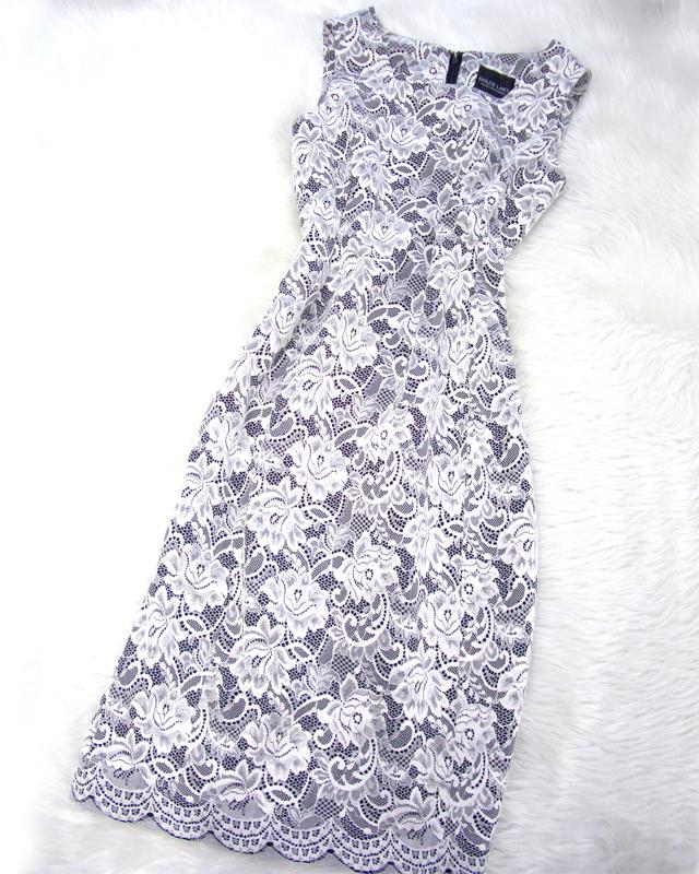 エレガントなワンピース♪繊細な花柄が魅力です<br />Elegant lace dress♪The detailed flower pattern is especially charming