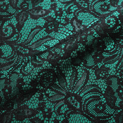 ダークグリーンレース/(kbd7068D) Dark Green Bonded Lace