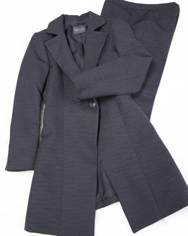 エレガントな黒ラメロングジャケット&パンツ<br />Elegant black long jacket & Pants