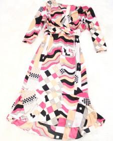 プッチ柄ロングスリーブドレス<br />Pucci pattern long sleeves dress