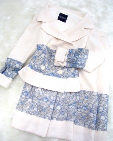 レース素材使いセレブスカートスーツ<br /> High-quality skirt suit using the lace material