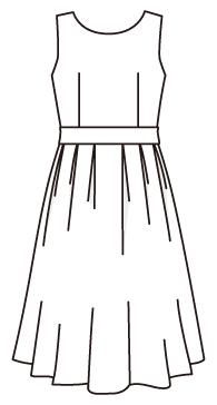 ソフトタックワンピース(サッシュベルト付)(OP-16)<br />Soft tuck dress