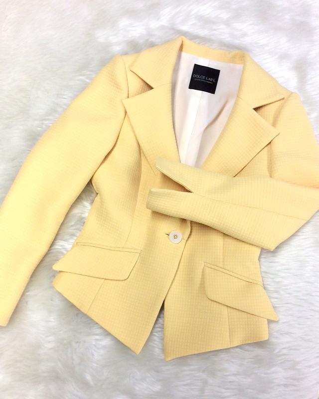 マトラッセイエロージャケット<br />Matelasse yellow jacket