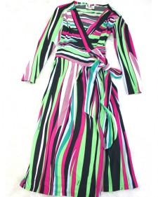 鮮やかマルチカラーのサマーカシュクールワンピース<br />/ すべてクリア Summer Cache-coeur dress of the vivid multicolored.