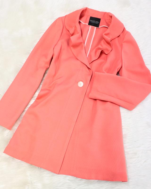 コーラルピンクが可愛い♪ロングカーディガン/<br />Long cardigan of the cute coral pink.