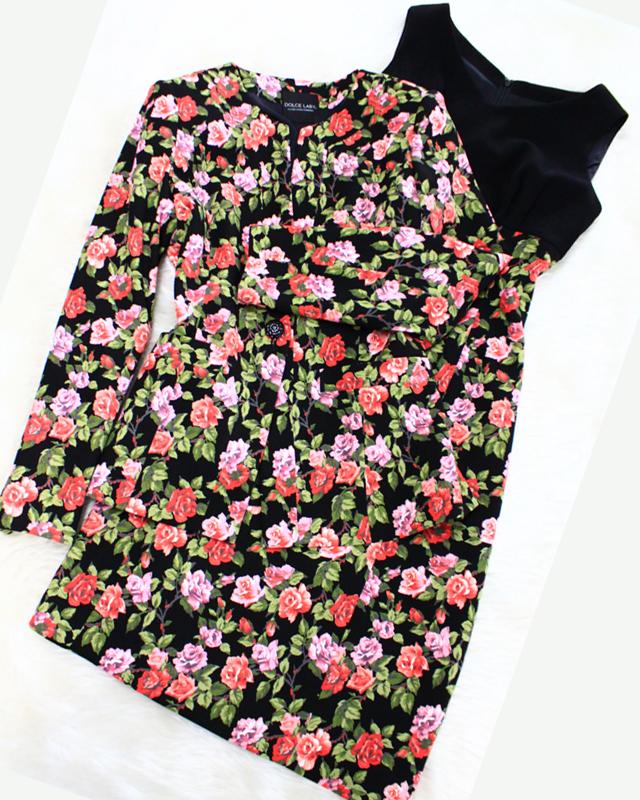 お花が広がる素敵なアンサンブルワンピース♪/Dress ensemble of the floral design.