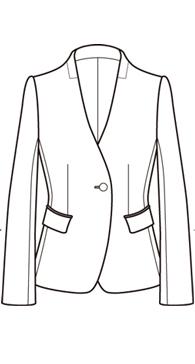 Vネックノーカラージャケット(RJ-24)<br />V-neck no collar jacket.