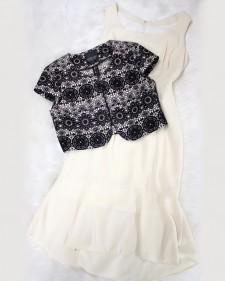 とってもフェミニン♪なレース生地ボレロとホワイトフリルワンピース/<br />A cloth for lace bolero and white frill dress.
