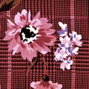 ピンク/(kkp5727D/#45-b) Pink Flower&checker