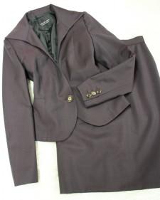格好いいハイカラージャケットのスカートスーツ♪/<br />Skirt suit of the cool high collar jacket.