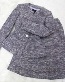 あったかツイードのエレガントスカートスーツ♪<br /> すべてクリア Elegant skirt suit of the warm tweed fabric.