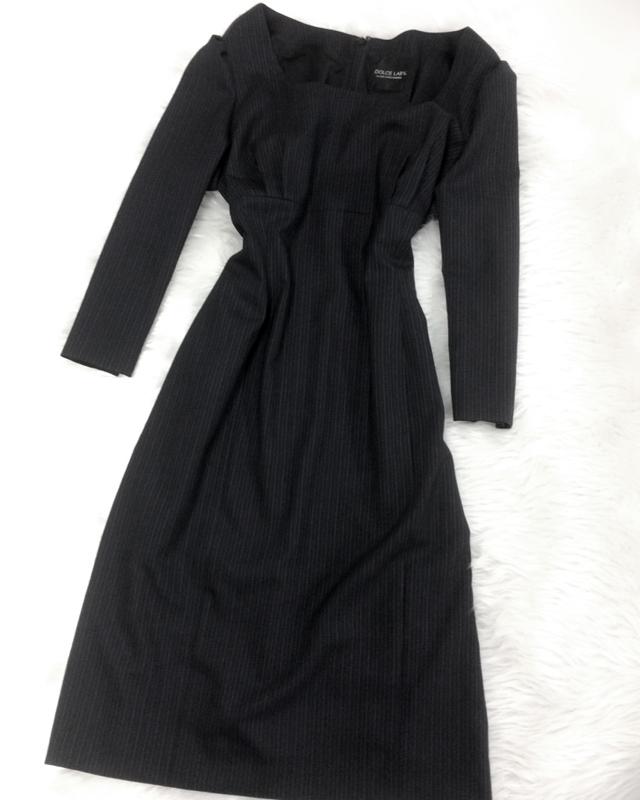 黒×紫ストライプワンピースでシックにキメて☆/<br />Strike in a black purple stripe dress chicly