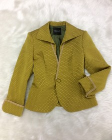 シルク黄ハイカラージャケット/<br />Silk yellow high color jacket
