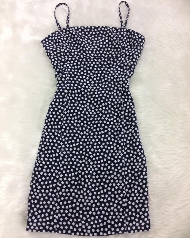 ブロックドットキャミワンピース/<br />Block dot camisole dress