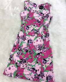 プッチ花柄Aラインワンピース/<br />Pucci floral pattern A-line one-piece dress
