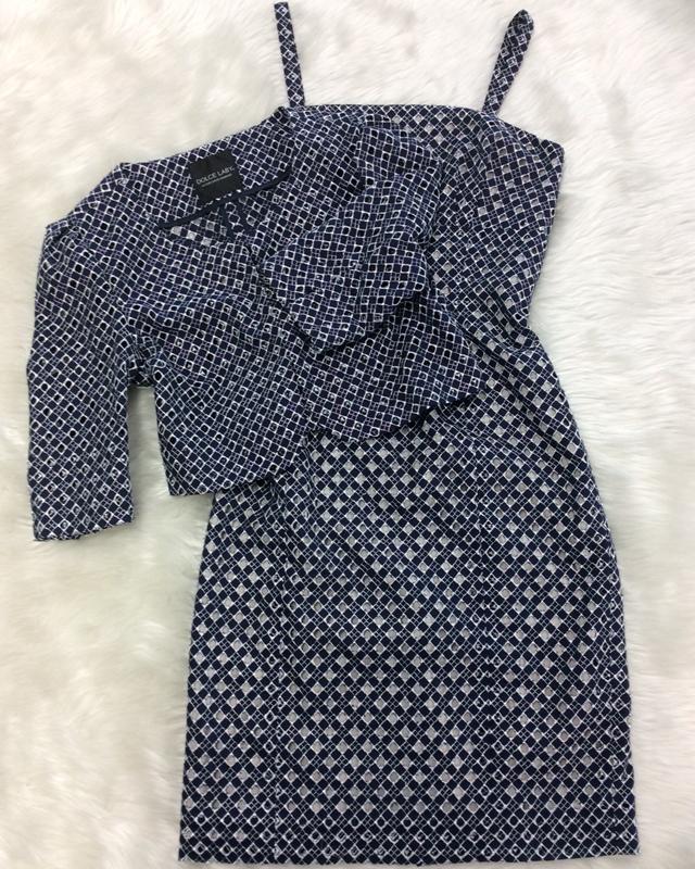 紺レースワンピーススーツ/<br /> Navy blue lace one-piece suit