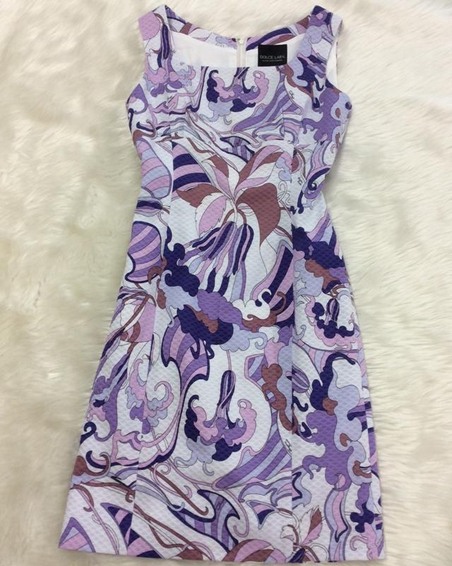 綿プッチパープルワンピース/<br />Cotton pucci purple one-piece dress