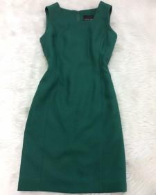緑スクエアネックワンピース/<br />Green square neck dress