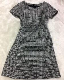 白黒ツイードワンピース/<br />Black and white tweed dress