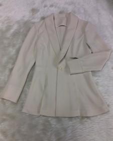 ペプラム付カーディガンジャケット/<br />Cardigan jacket with peplum