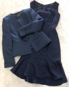 ネイビージャケット&ワンピース/<br> Navy jacket and dress
