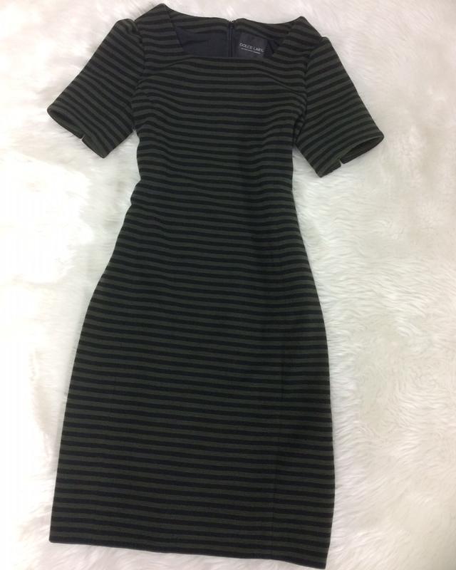 カーキボーダーワンピース/<br />Khaki border one-piece dress