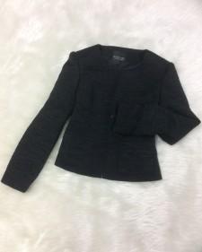 黒ツイードジャケット/<br />Black tweed jacket