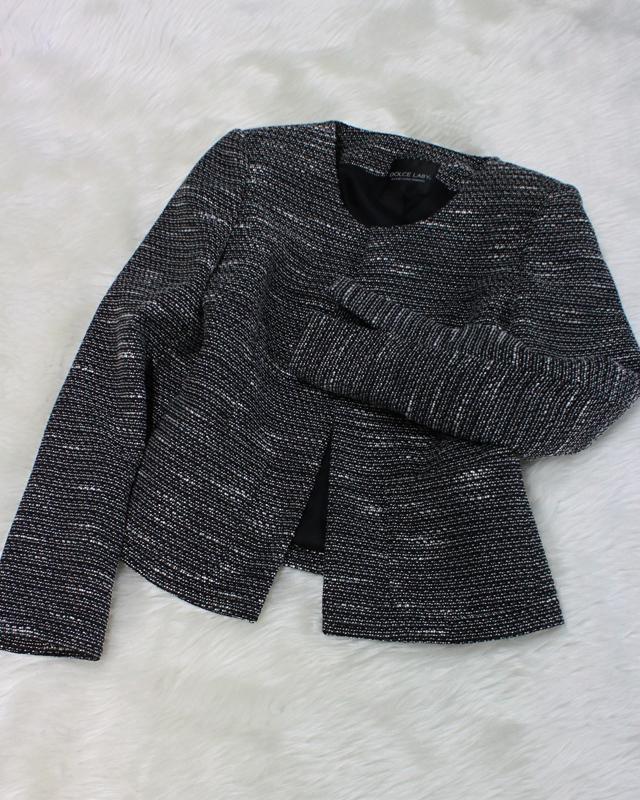 黒×白ツイードジャケット/<br />Black x white tweed jacket