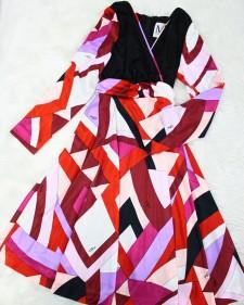 赤×黒プッチワンピース/<br />Red x Black Pucci one-piece dress