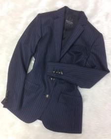 紺ストライプジャケット/<br />Navy blue striped jacket