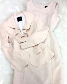 ベージュジャケット&ワンピース/<br />Beige jacket & One-piece dress