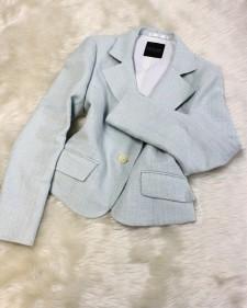 水色ラメジャケット/<br />Light blue lame jacket