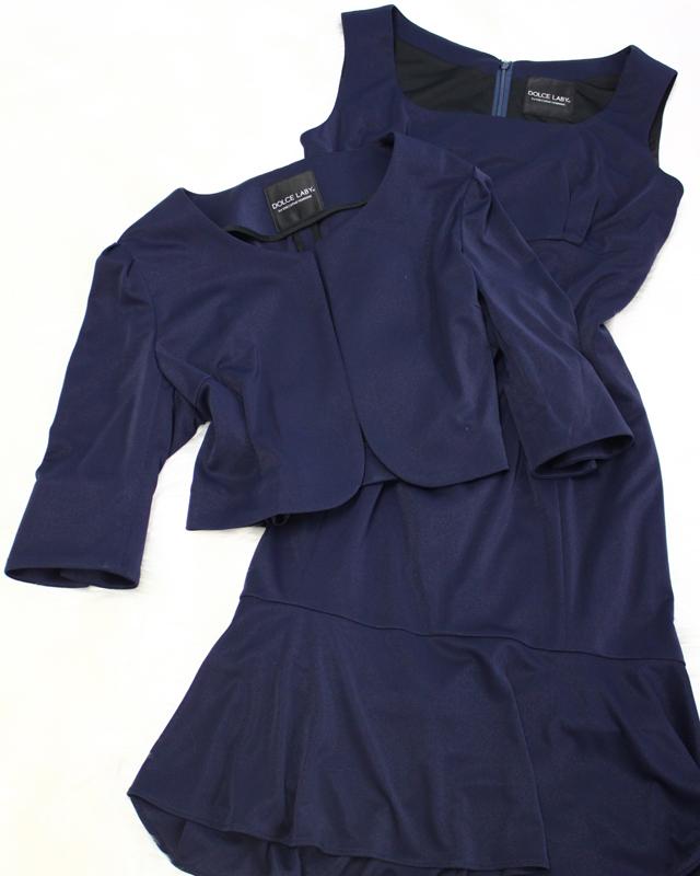 紺ラメワンピーススーツ/<br />Navy blue lame one piece suit