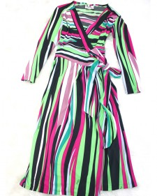 プッチ緑ストライプドレス/<br />Pucci green striped dress