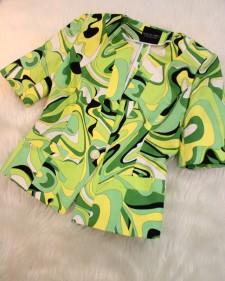 黄緑プッチ半袖ジャケット/<br />Yellow-green Pucci short-sleeved jacket