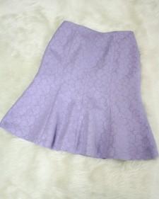 紫柄フレアスカート/<br />Purple flared skirt