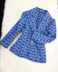 水色レースジャケット/<br />Light blue lace jacket