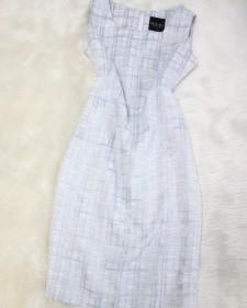 水色×白ワンピース/<br />Light blue x white one-piece dress