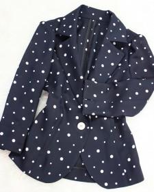 紺ドットジャケット/<br />Navy blue dots Jacket