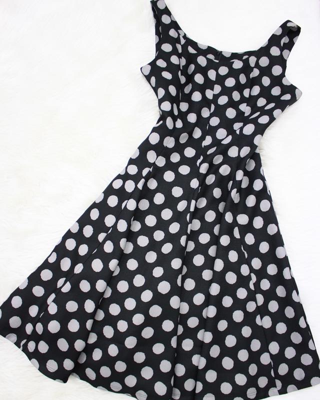 黒×グレードットワンピース/<br /> Black x graded one piece dress