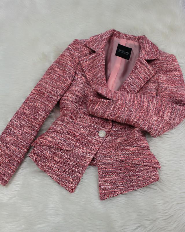 オレンジ系ツイードジャケット/<br />Orange tweed jacket