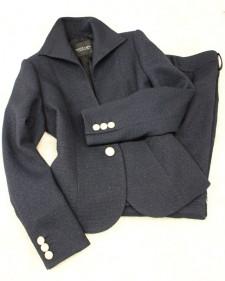 紺ラメツイードパンツスーツ/<br /> Navy blue lame tweed pants suit