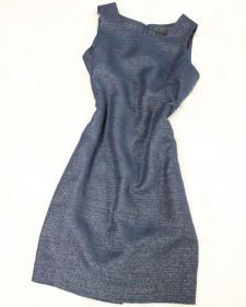 紺ラメワンピース/<br /> Navy blue lame one piece dress