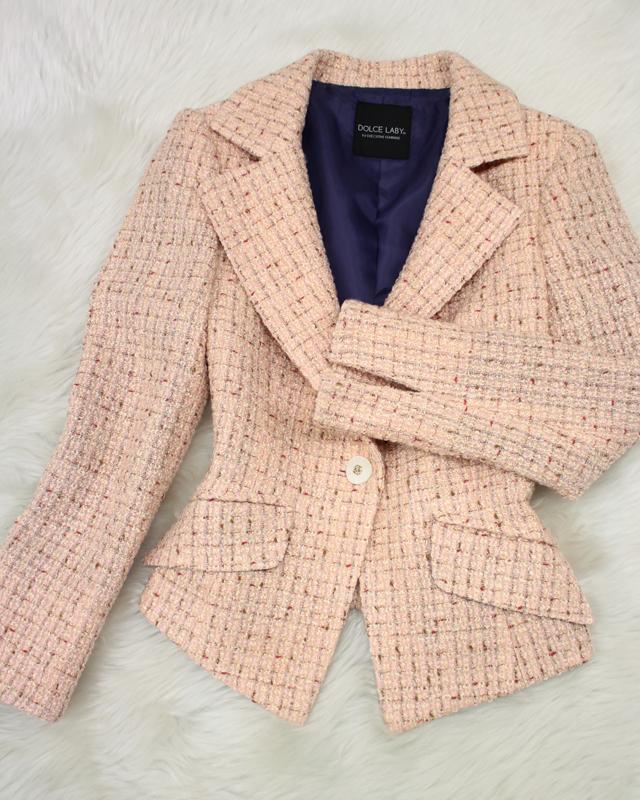 ピンクツイードジャケット/<br />Pink tweed jacket