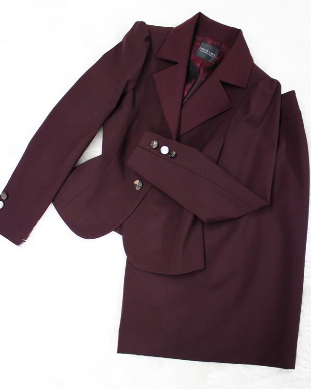 ボルドースカートスーツ/<br />Bordeaux skirt suit