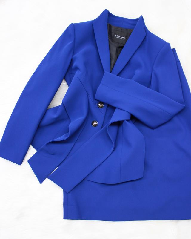 ロイヤルブルースカートスーツ/<br />Royal blue skirt suit